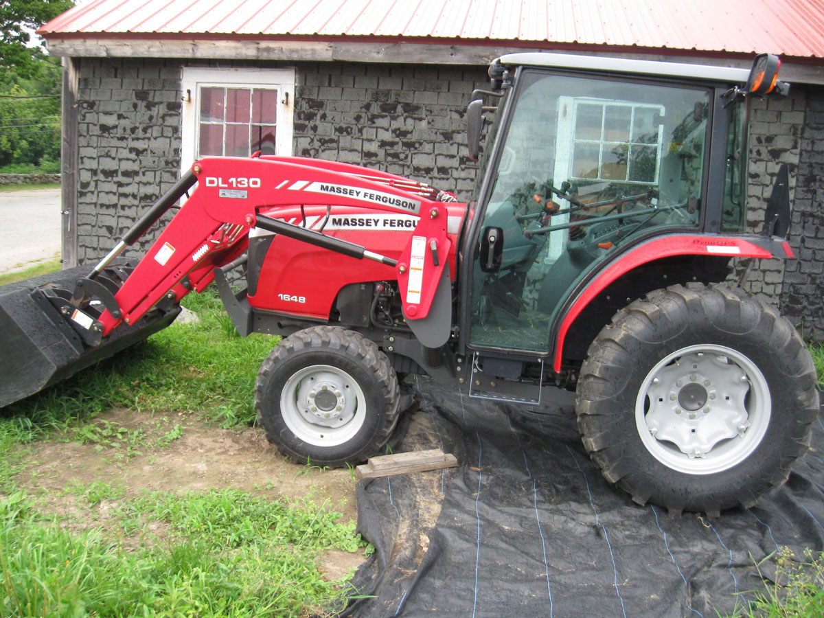 Massey Ferguson Model 1648, 48 Horse Power, 4 wheel drive, cab with air condition and heat, with model DL 130 loader, skid steer quick attach, like new condition. Only 311 hours! $35,000.oo Financing Available